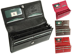 Visconti-Large-Multi-Compartment-Ladies-Leather-Purse-Womens-Wallet-HT35