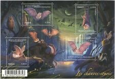 France 2013 Bats/Wildlife/Nature/Conservation/Badger/Owl/Moth 4v m/s (n39183j)