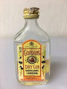 Mignon-Miniature-Gordon-039-s-Tanqueray-London-Dry-Gin-England-3-98cl-38-Vol