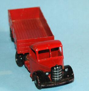 DINKY-SUPERTOYS-MECCANO-ENGLAND-ORIGINALE-1948-BEDFORD-Autoarticolato-521-Rosso