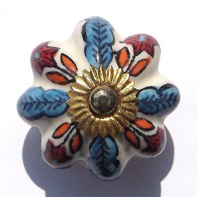 Ceramic Porcelain China Door Knobs  Handles Drawer cupboard wardrobe pulls