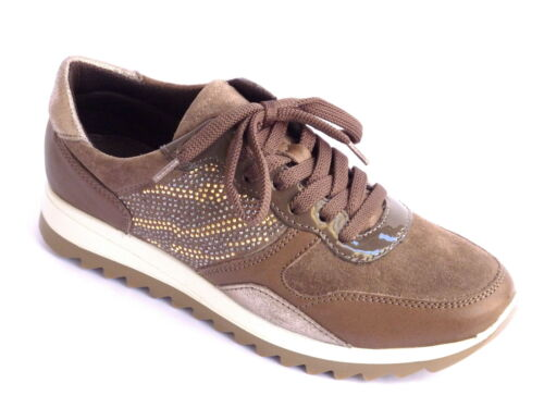 Sneakers Donna Scarpe N Marrone Pelle Nabuk Con 36 Strass Confort Style gqCw6Axq7