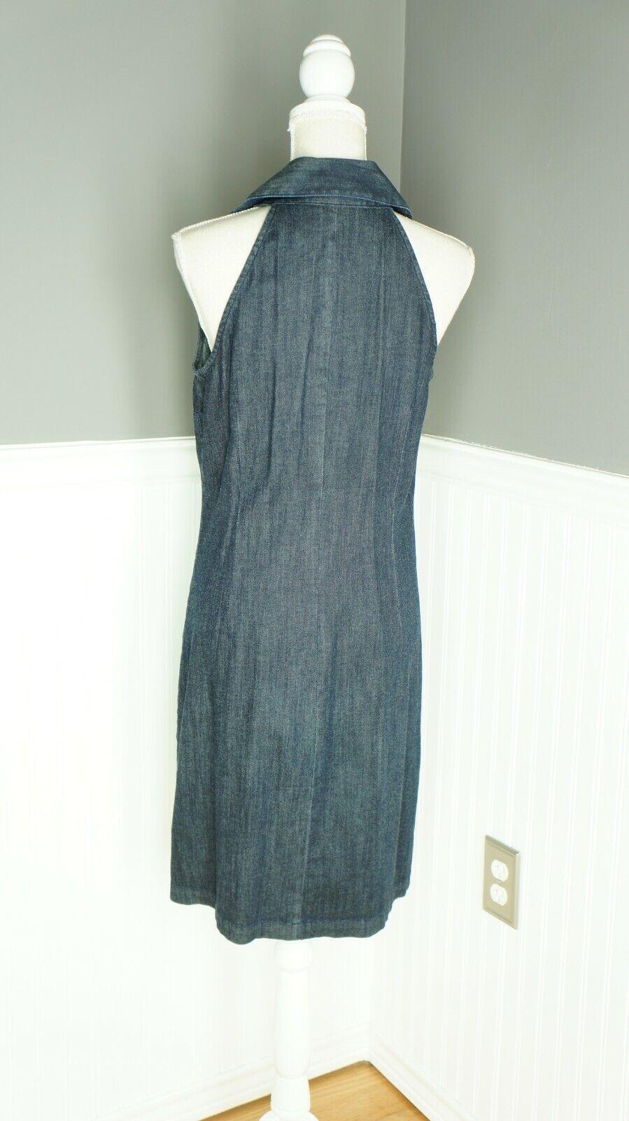 INC International Concepts Denim Midi Dress Dark … - image 3