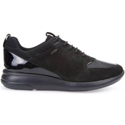 noire cuir vernie Chaussures en Femme ligne Ophira et D621cb baskets Geox wxIf0