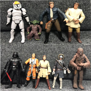 Lot-5pcs-Star-Wars-Hasbro-Jedi-Yoda-Action-figure-Movies-Game-3-75-034-Toy-Random