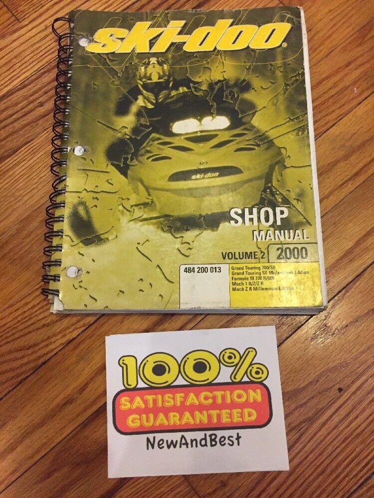 2000 Repair SKI-DOO SNOWMOBILE SHOP Repair 2000 VOLUME 2 MANUAL 484200013 Grand Touring 81b01d