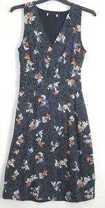 Marks-amp-Spencer-Summer-Floral-Print-Sleeveless-skater-dress-Size-8-20