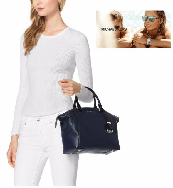 Michael Kors Riley Satchel Medium Handbag Signature Black Gold 1 Day