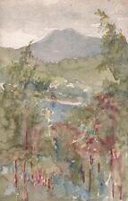 IMPRESSIONIST MOUNTAIN LANDSCAPE Watercolour Painting MARCUS ADAMS c1930
