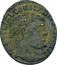 CONSTANTINE I the GREAT 313AD Ancient Roman Coin Zeus Jupiter Cult  i45972