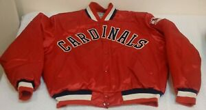 Vintage-St-Louis-Cardinals-Satin-Jacket-Coat-1970s-1980s-Swingster-XL-MLB-Red