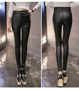 Women Ladies Check Striped Stretchy Slim Leggings Pants Trousers Size 6 8 10 12