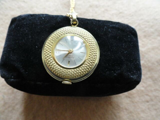 Swiss Made Jean Perret Geneve Mechanical Wind Up Necklace Pendant Watch