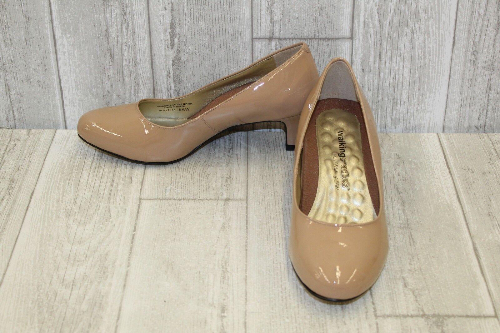 Walking Cradles Joy Heel - Women's Size 8WW Beige