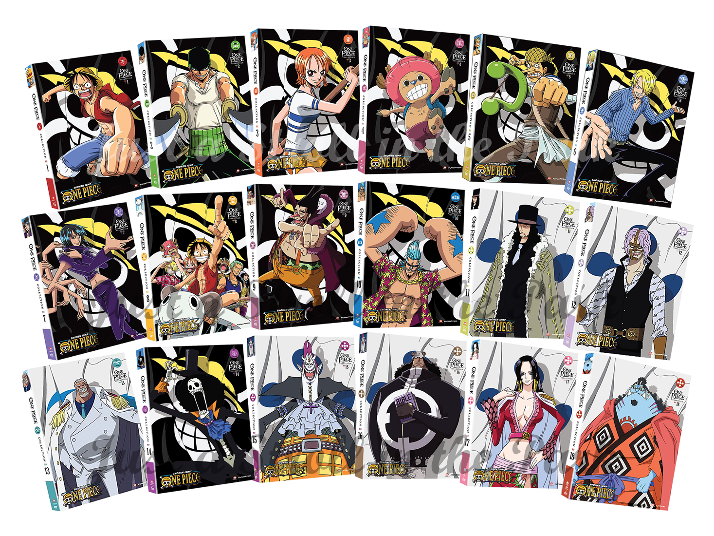 One Piece Anime TV Series Complete Collections 1-18 Box ...