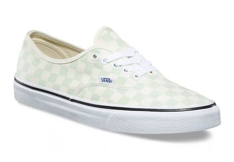 Vans Mens 13 Womens 14.5 Authentic Checkerboard Ambrosia Cream Sneakers Check