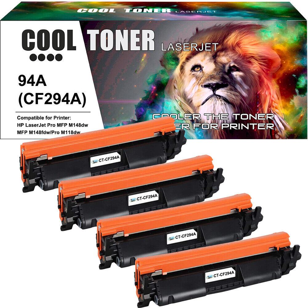 4PK CF294A 94A Toner Cartridge For HP LaserJet Pro MFP M148fdw M118dw Printer