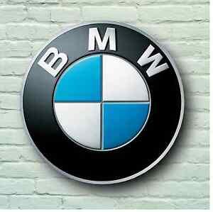 Bmw Logo 2 Ft (environ 0.61 M) Large Garage Panneau Plaque Murale Voiture Classique Atelier Mécanicien M3 M5-afficher Le Titre D'origine Design Professionnel