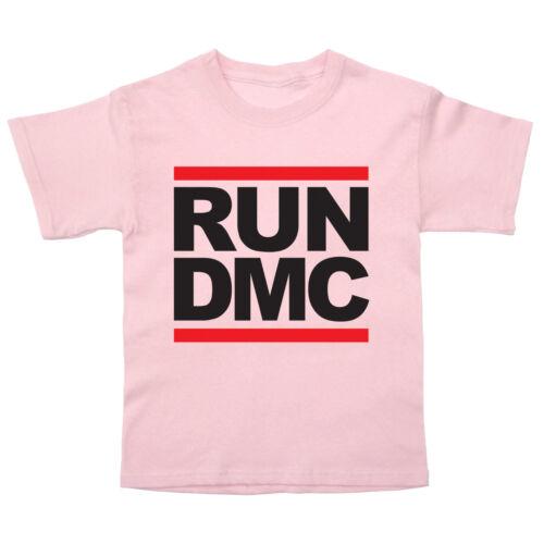 Ejecutar Dmc Logo Bebé//Niño Camiseta HIP HOP RAP MÚSICA