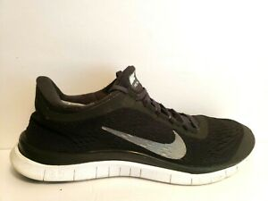 separation shoes 88652 e8911 Details about Nike Free Run 3.0 V 5 Mens Size 8 Running Shoes Black White  Grey 580393 001