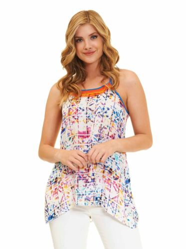 Multicolor Robert Graham Adamaris Sleeveless Silk Top
