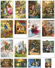SET of 16 pcs SUSAN WHEELER. HOLLY POND HILL. Modern Postcard in Folder Vol. 2