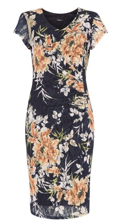 Stunning ROMAN ORIGINALS Floral Lace Dress BNWT Size 18 Wedding Cruise