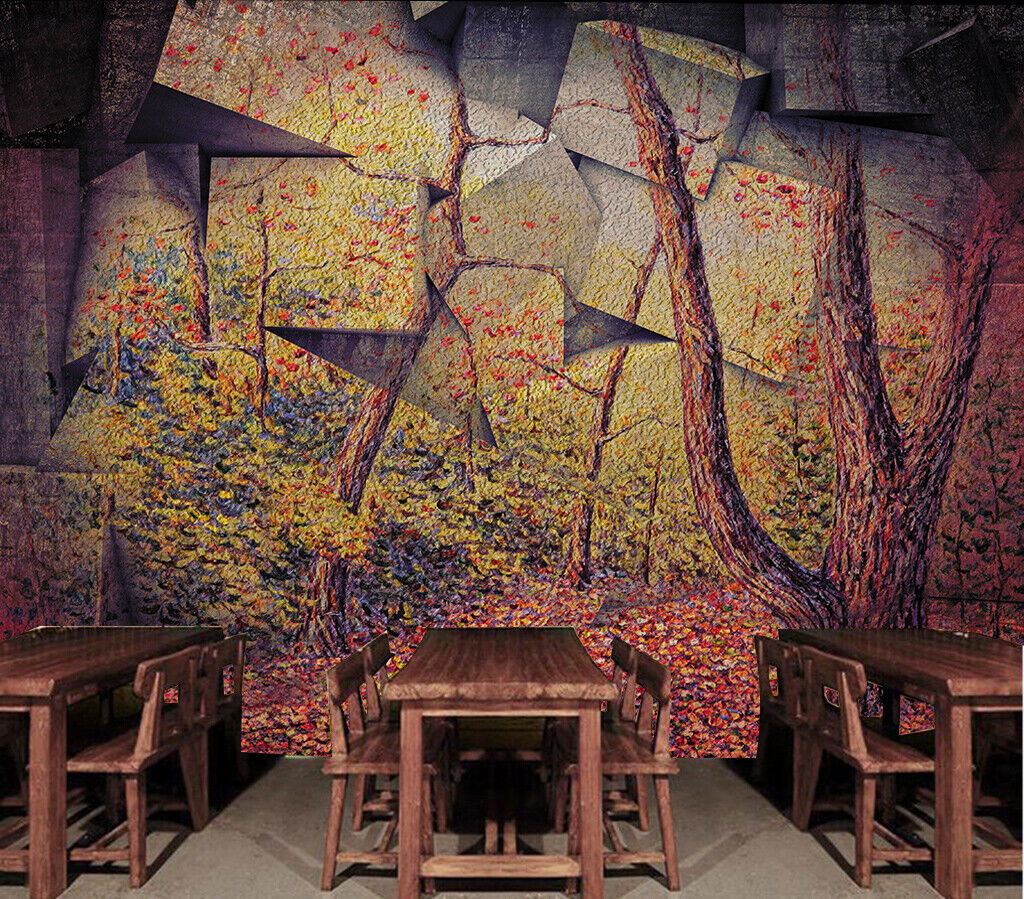 3D Art Stone Tree N279 Wallpaper Wall Mural Removable Self-adhesive Sticker Amy