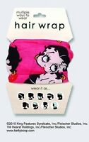 Ladies' Hair Wrap / Betty Boop Design / 100% Polyester / Multiple Uses
