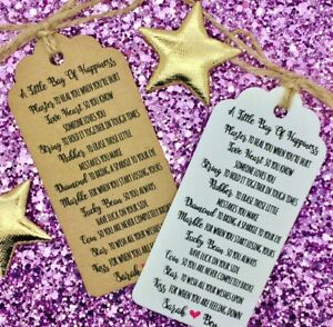 personalised a little bag of happiness tags ebay