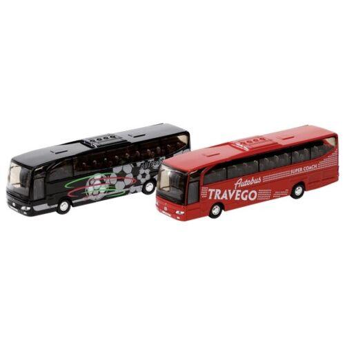Reisebus Bus MB Travego aus Spritzguss 1:60 L= 18 cm