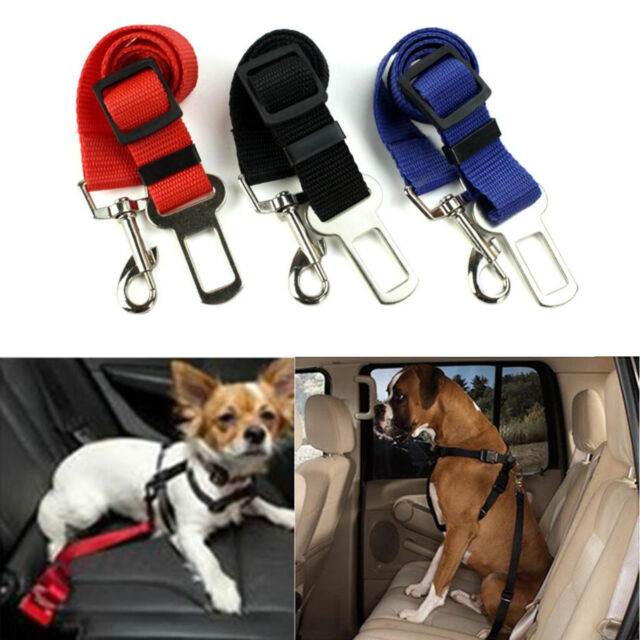 3x Dog Pet Safety Adjustable Car Seat Belt Harness Leash Travel Clip