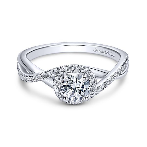 New Gabriel & Co. Round Twisted Engagement Ring Setting ER9337W44JJ
