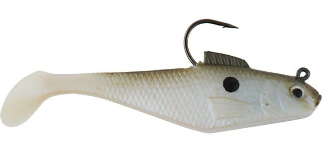 pre-rigged fishing lure powerbait manic shad saltwater or freshwater pike bait