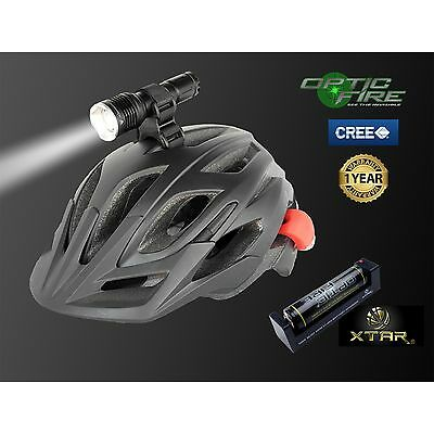Opticfire CREE XML LED T6-ZOOM Cycle helmet mount bike lights head light torch
