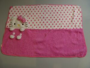Hello Kitty - Peluche Plaid Rose 1 Mx 70 Cm 2013 Sanrio Import Japon