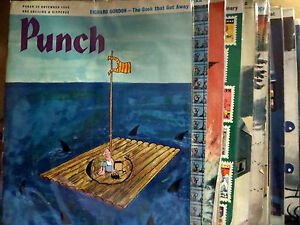 Punch-UK-Magazine-Collection-15-issues-Best-Cartoons-Book-1963-1966-VG-F