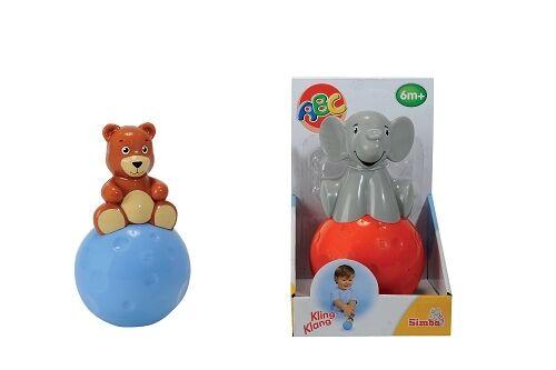 Simba Stehaufmännchen / Stehauf Figur mit Geräusch Babyspielzeug ab 6 Mon.