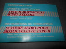 Honda Hondaline Type II Audio System Owners Manual 65 Pages