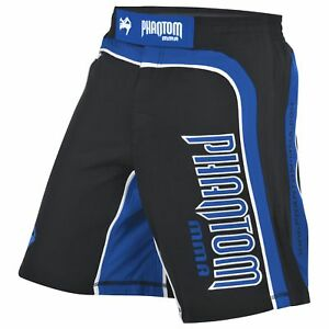 "MMA Fight Shorts ""Shadow"" Black/Blue von PHANTOM"