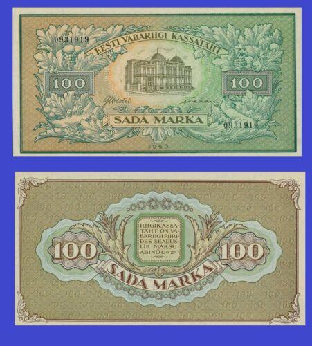 ESTONIA 100 Markaa 1923 Reproduction UNC