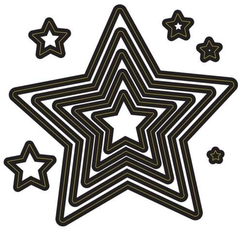 10 Nesting Stars Darice Metal Dies 10//pk Cut Emboss Stencil 30094105
