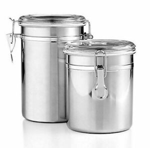 Tools-of-the-Trade-Stainless-Steel-2-Piece-Canister-Set-1-5-and-2-Qt-NWT-Box