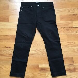 Forever 21 Mens Slim Skinny Black Chino Pants Sz 30 29 Pre Hemmed Pre Owned Ebay