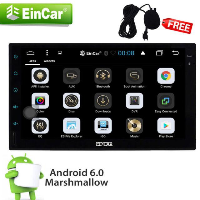 ANDROID 6.0 AUTORADIO MIT NAVIGATION GPS OBD2 WIFI 3G/4G BILDSCHIRM 2 DIN DOPPEL