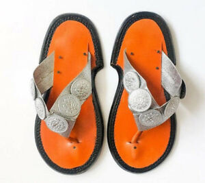 dace5d4db Image is loading Handmade-Men-039-s-Traditional-Leather-Slippers-Ghanaian-