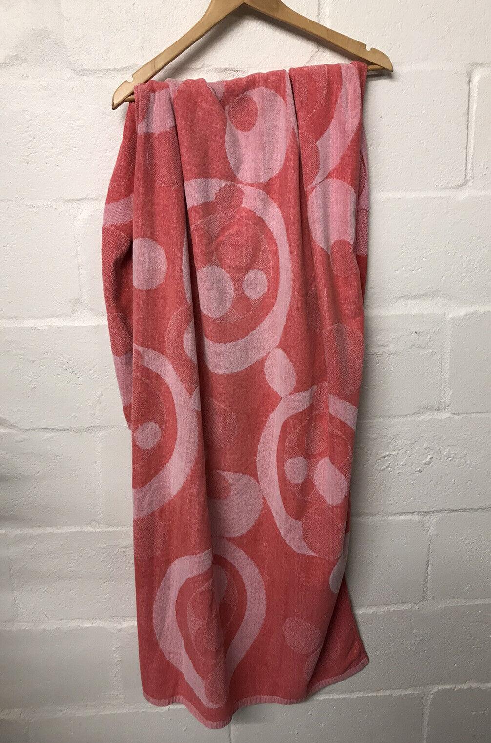 Vintage Sea King Beach Towel - Town House Pink Cotton Polkadot