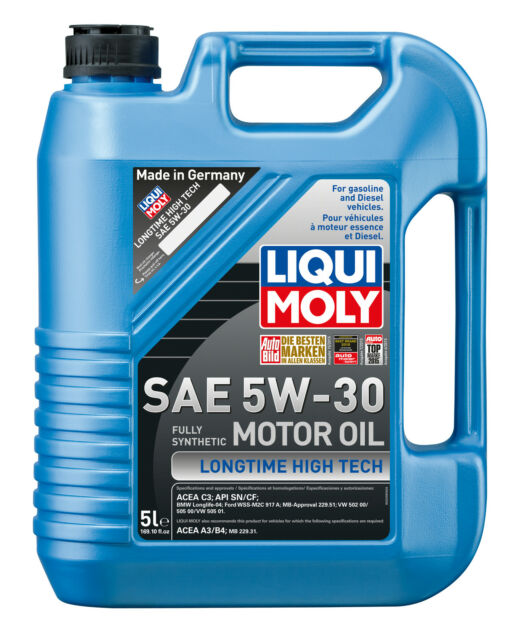 Liqui Moly Longtime High Tech SAE 5W-30 Fully Synthetic Engine Oil 5L 2039