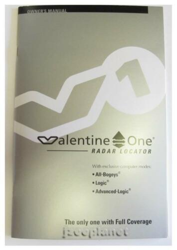OWNER/'S INSTRUCTION MANUAL USER GUIDE BOOK FOR VALENTINE ONE V1 ORIGINAL NEW