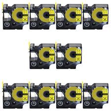 10pk A 31 Ind Heat Shrink Tube 34 Black On Yellow 18058 For Dymo Rhino 5200
